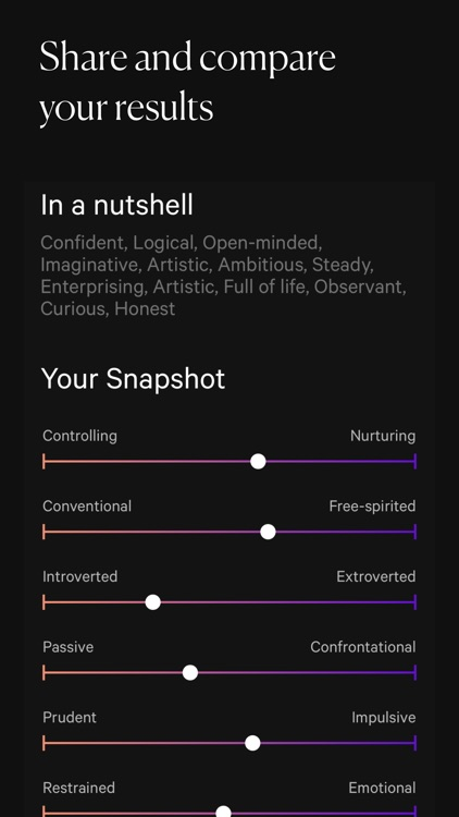 Dimensional: Personality Test screenshot-4