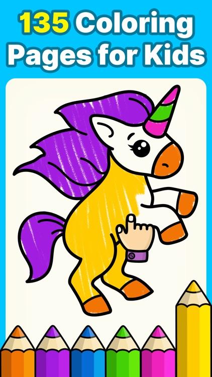 Baby coloring book for kids 2+ screenshot-0