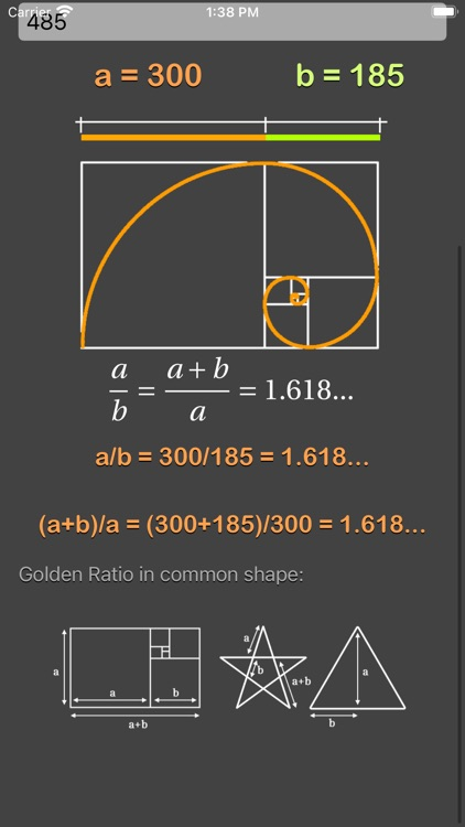 Golden Ratio Calculator Plus screenshot-7