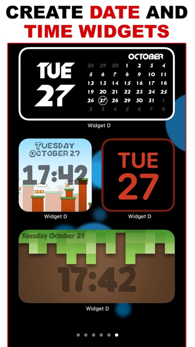 Widget D : Date Time Widgets screenshot 1
