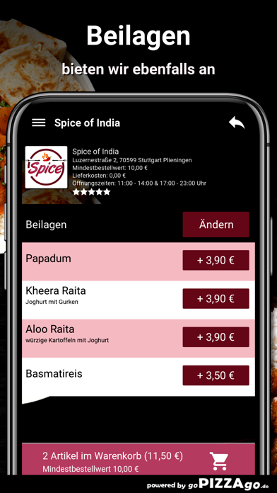 Spice of India Plieningen screenshot 6