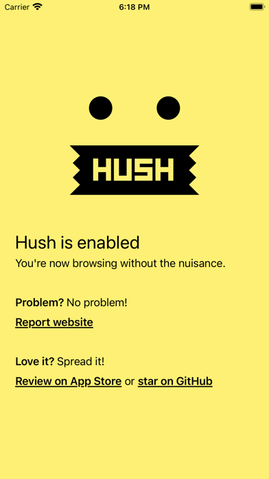 Hush Screenshot