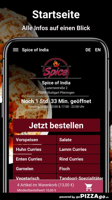 Spice of India Plieningen screenshot 2