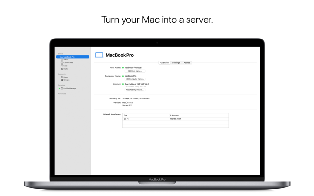 ‎macOS Server Screenshot