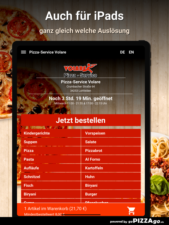 Pizza-Service Volare Lohfelden screenshot 7