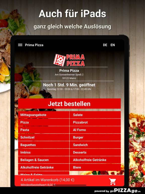 Prima Pizza Mainz screenshot 7