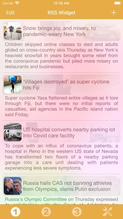 RSS Widget screenshot-5