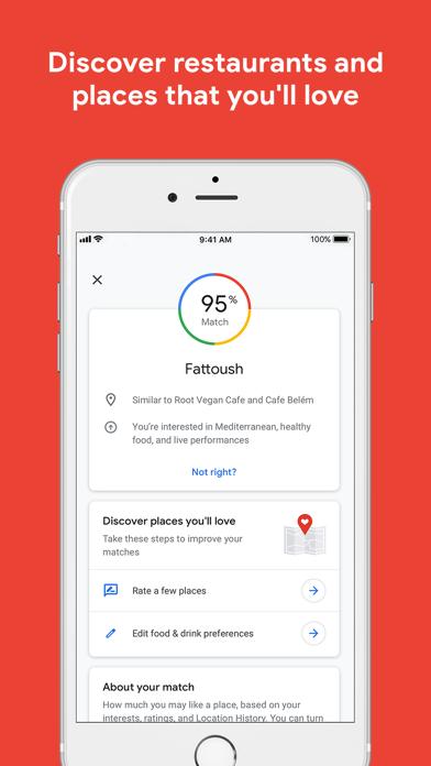 Google Maps - Transit & Food iPhone