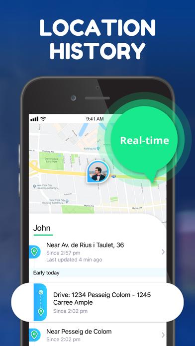Spoten: location tracker, GPSスクリーンショット