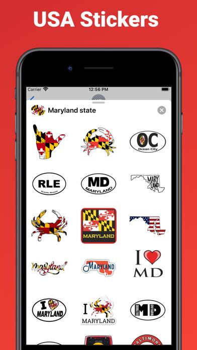 Maryland state - USA emoji screenshot 2