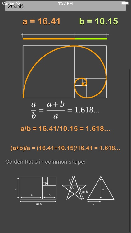 Golden Ratio Calculator Plus screenshot-5