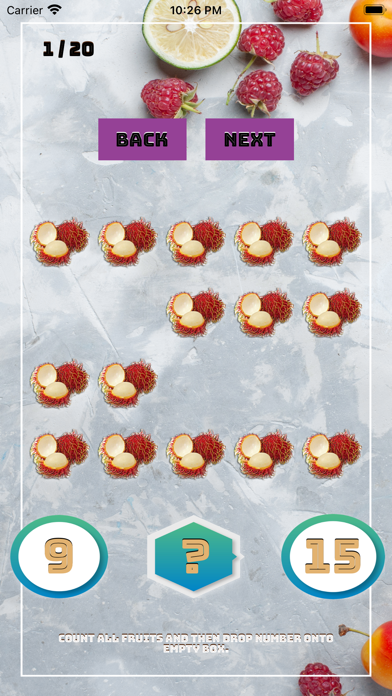 Count And Answer On Fruits screenshot 3
