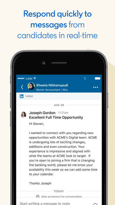 Screenshot #1 pour LinkedIn Recruiter