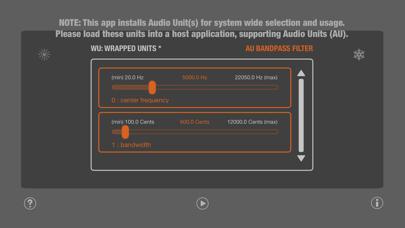 WU: AUBandpassFilter Screenshot