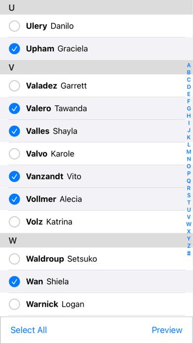 Contacter Screenshots