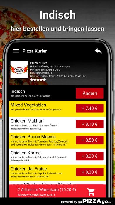 Pizza Kurier Steinhagen Essen screenshot 6
