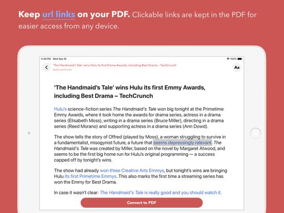 Web to PDF Converter & Reader iPad