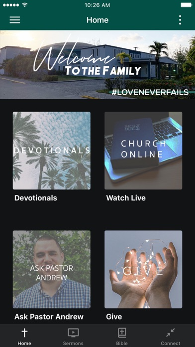 Agape Family Worship Centre Screenshot