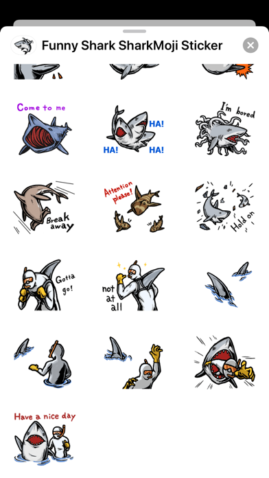 Funny Shark SharkMoji Stickers screenshot 4
