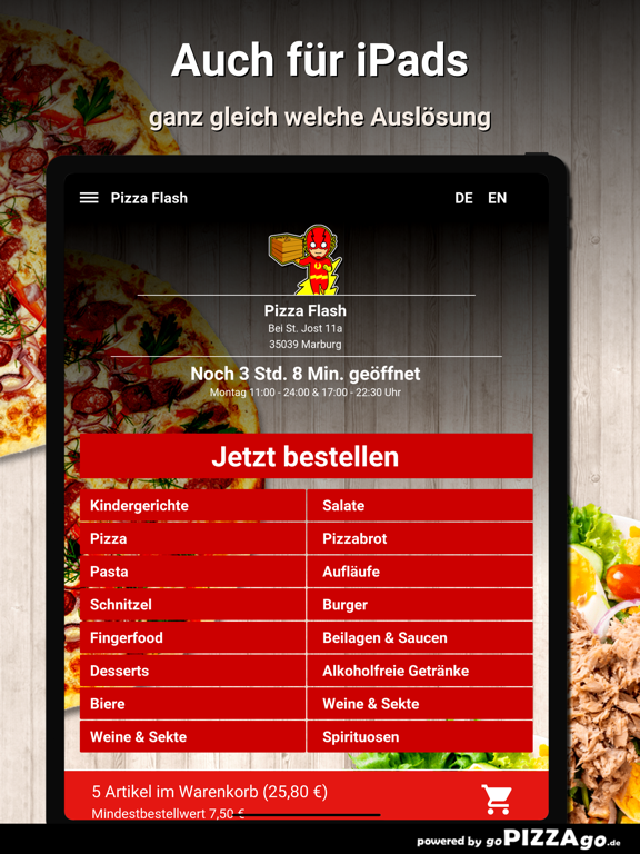Pizza Flash Marburg screenshot 7