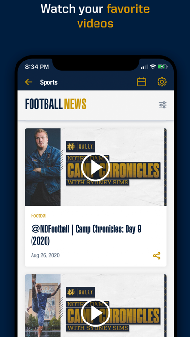 messages.download Notre Dame Fighting Irish App software
