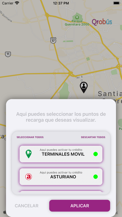 QroBús Ubica RecargaCaptura de pantalla de5