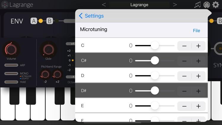 Lagrange - AUv3 Plugin Synth screenshot-9