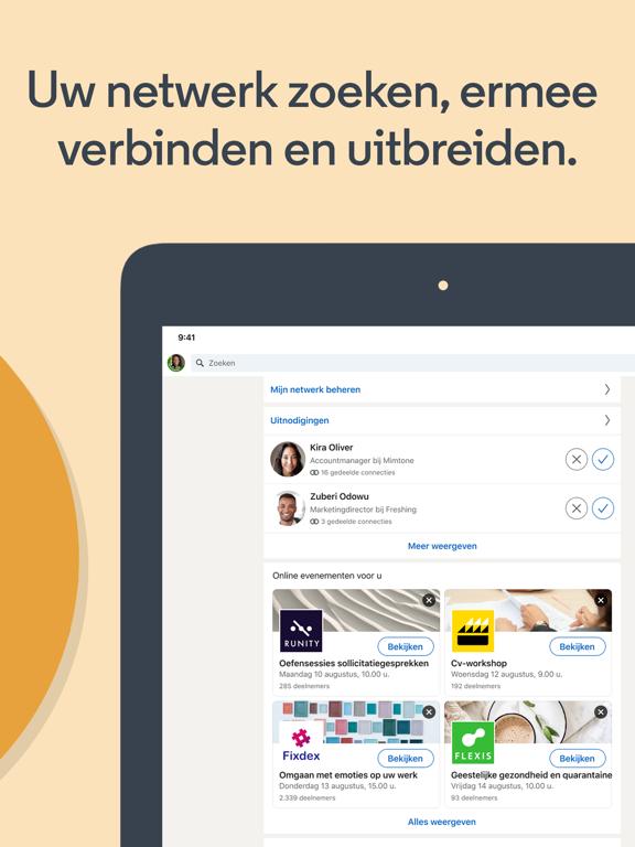 LinkedIn: Een baan zoeken iPad app afbeelding 3