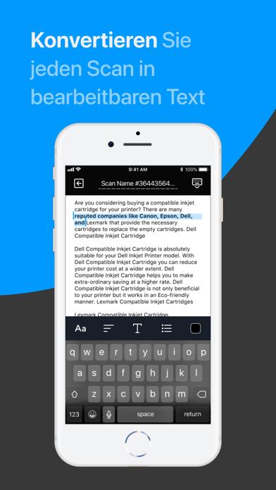 Scanner App: Scannen von PDFScreenshot von 3