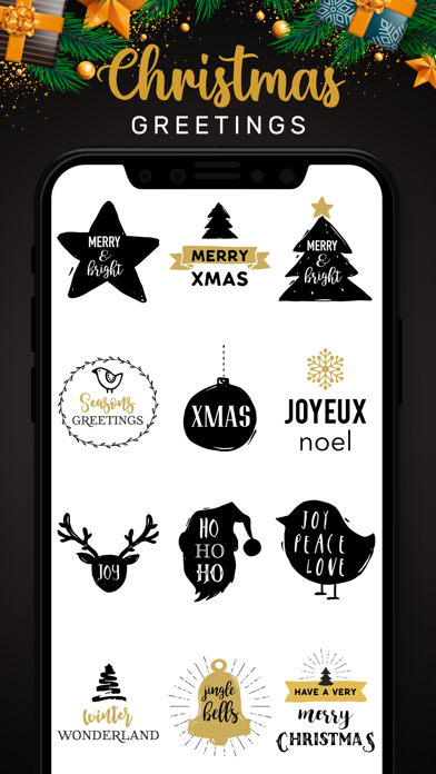Christmas Lettering Stickers! screenshot 2