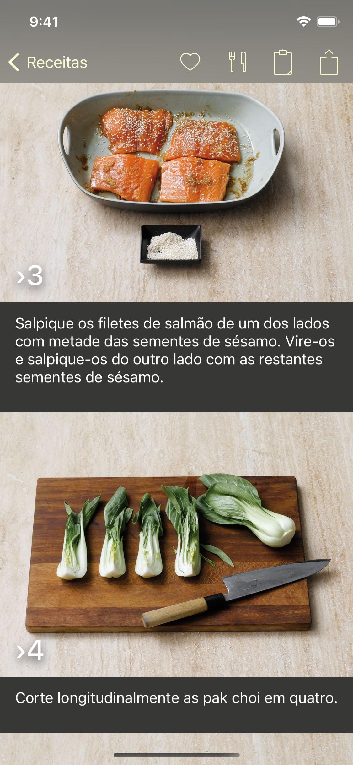 Screenshot do app Foto-Receitas
