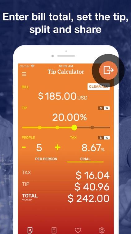 Tip Calculator & Bill Split screenshot-3