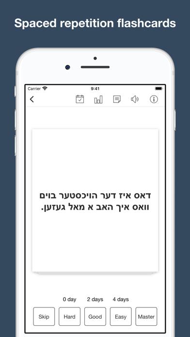 Yiddish vocabulary & sentences screenshot 8