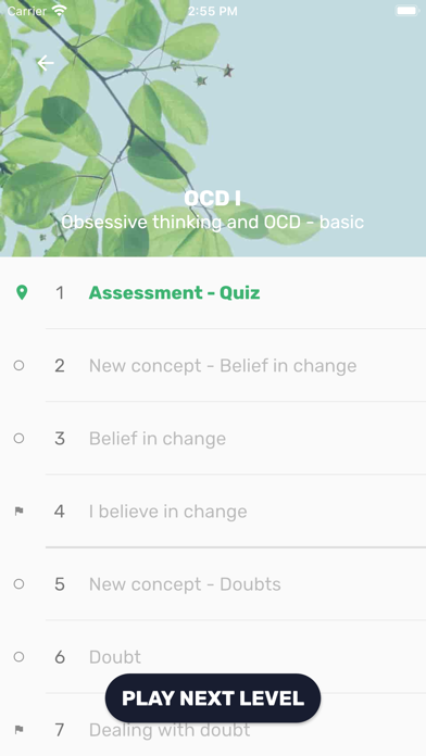 GG OCD - Thoughts Exercise Screenshot