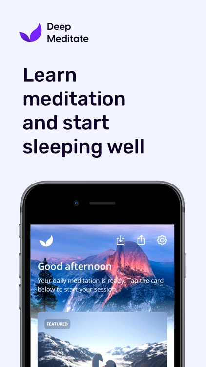 Meditation App by DeepMeditate