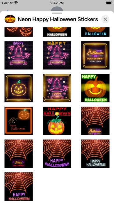 Neon Happy Halloween Stickers screenshot 6