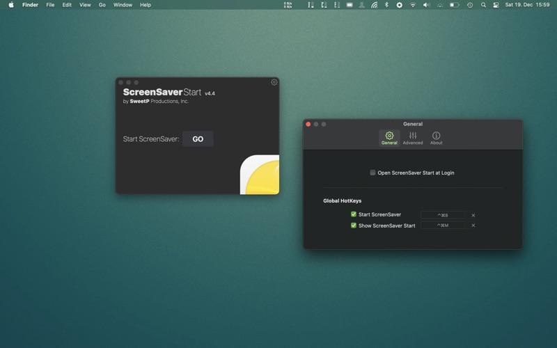 ScreenSaver Start Screenshot