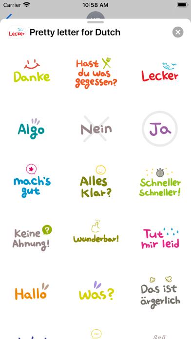 Pretty letter for German screenshot 3