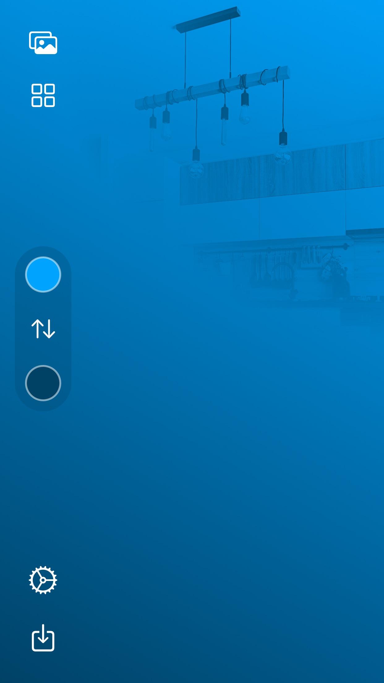 Screenshot do app HomePaper for HomeKit