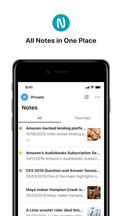 Nimbus Note screenshot two