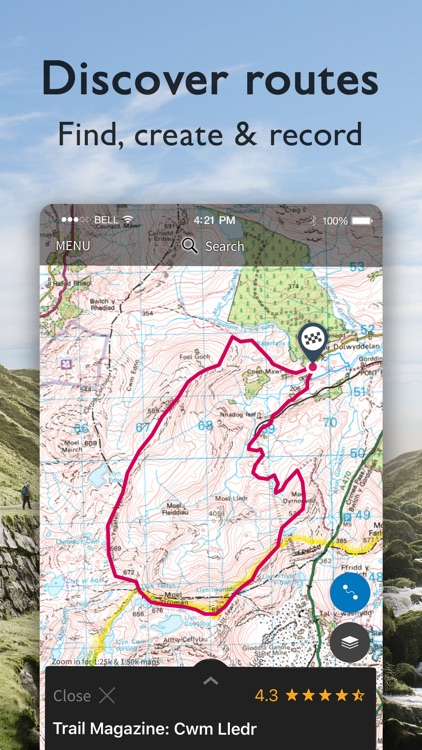 OS Maps: Walking & bike trails