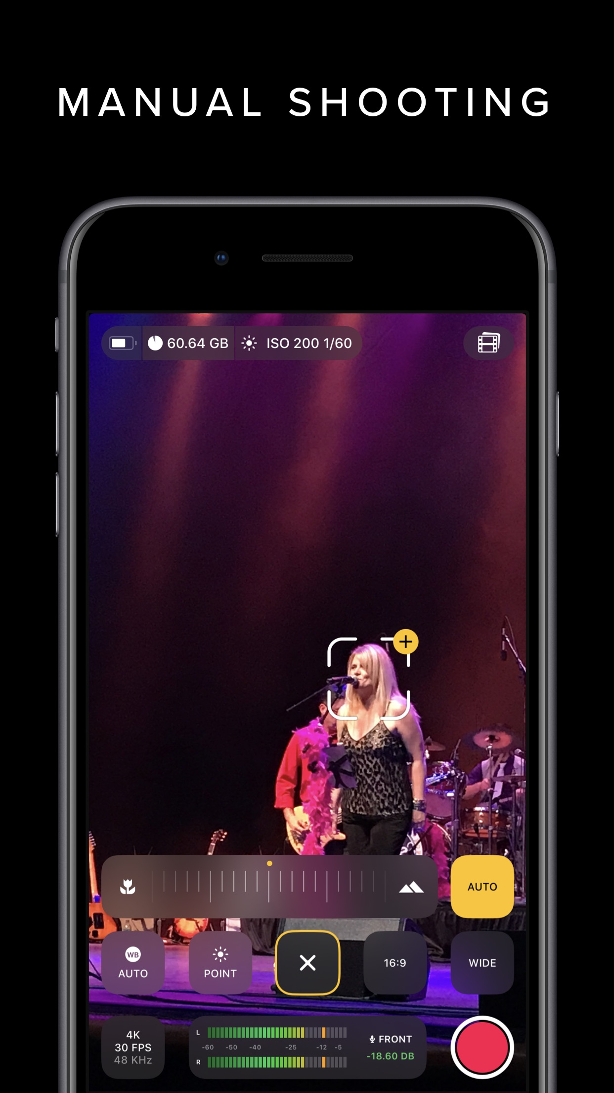 Screenshot do app REC - Pro Video Camera