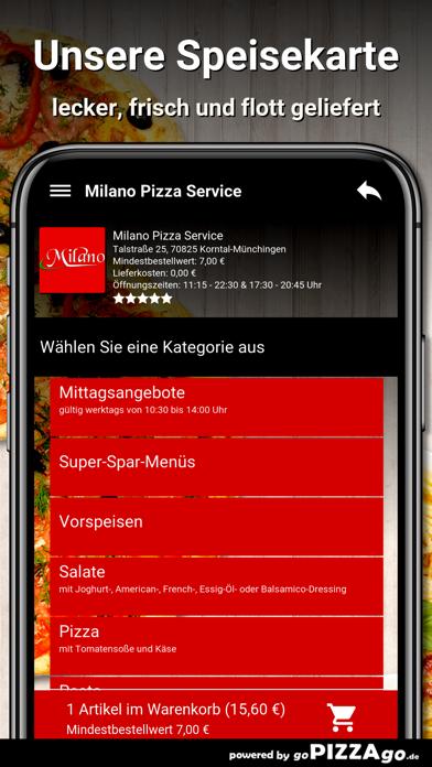 Milano Pizza Service Korntal screenshot 4