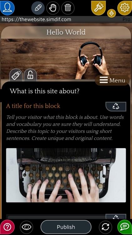 SimDif — Website Builder