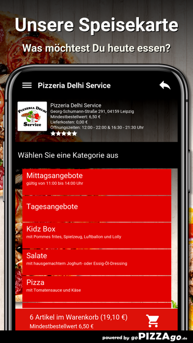 Pizzeria Delhi Service Leipzig screenshot 4