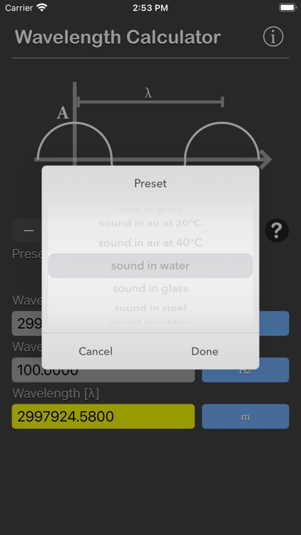Wavelength Calculator
