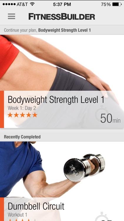 FitnessBuilder screenshot-0