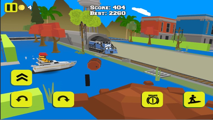 WATER BIKE STUNT RACE GAMES 3D screenshot-3