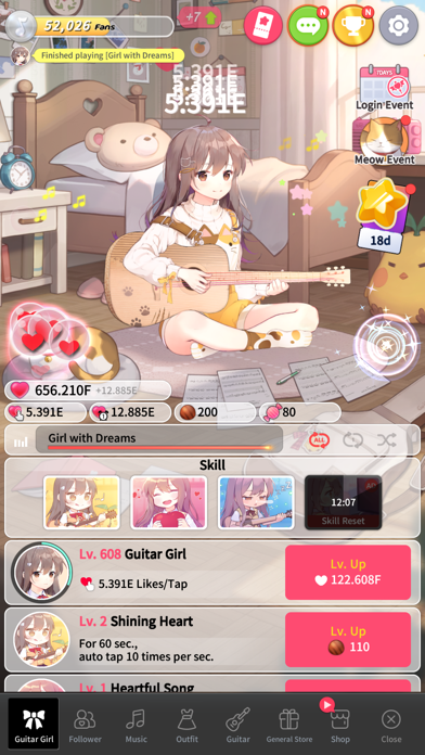 Guitar Girl:Relaxing MusicGame screenshot 5