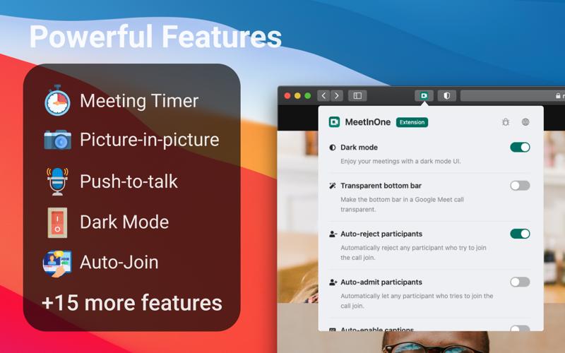 Screenshot of MeetInOne Pro for Safari